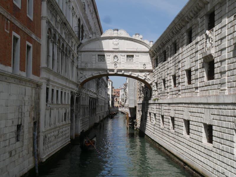 威尼斯-叹气桥梁 免版税库存照片