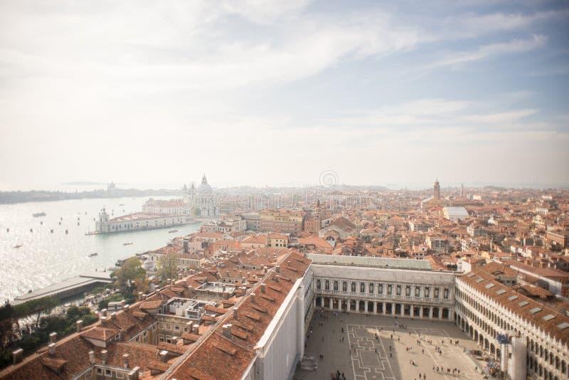 威尼斯 威尼斯的鸟瞰图有大教堂二的圣玛丽亚d 图库摄影