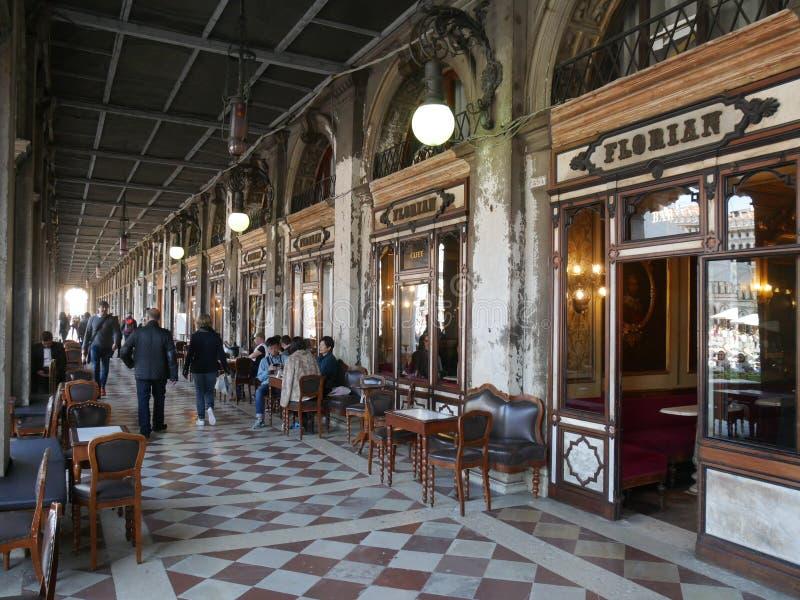 威尼斯-弗洛里安咖啡馆 库存照片