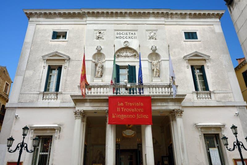 威尼斯- Teatro la Fenice 图库摄影
