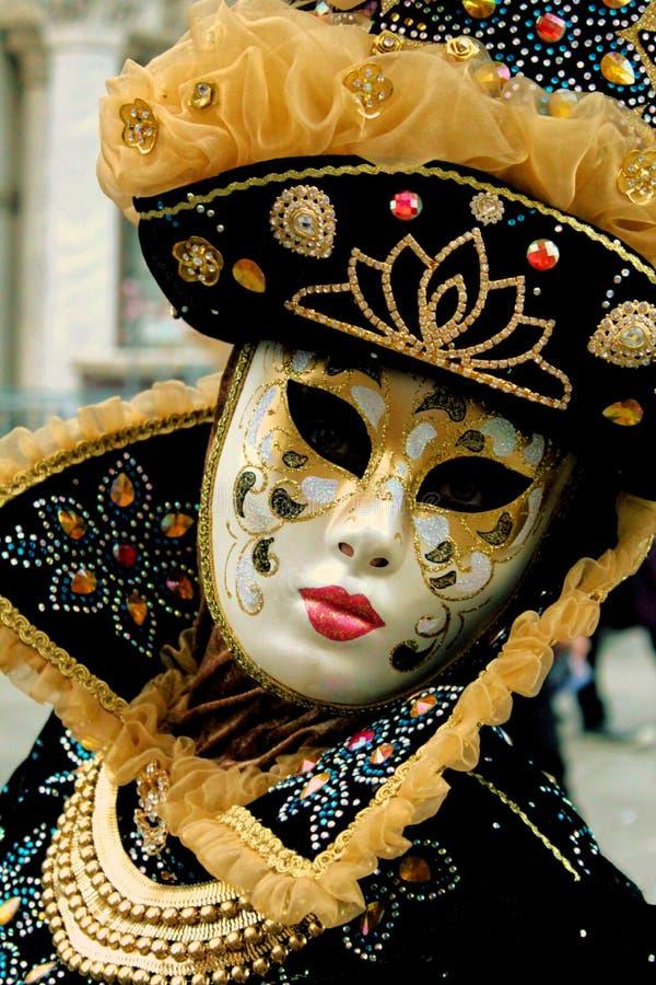 威尼斯carrnival服装和面具 库存照片