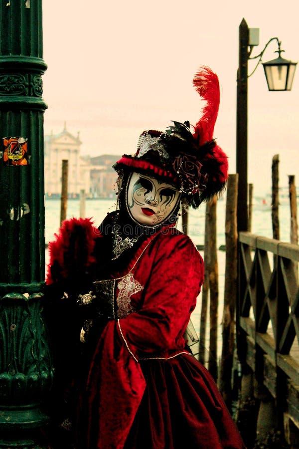 威尼斯carrnival服装和面具 图库摄影