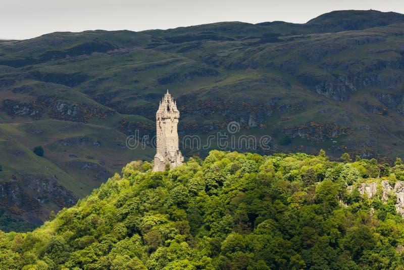 威廉・华莱士纪念碑,斯特灵,苏格兰 免版税库存图片