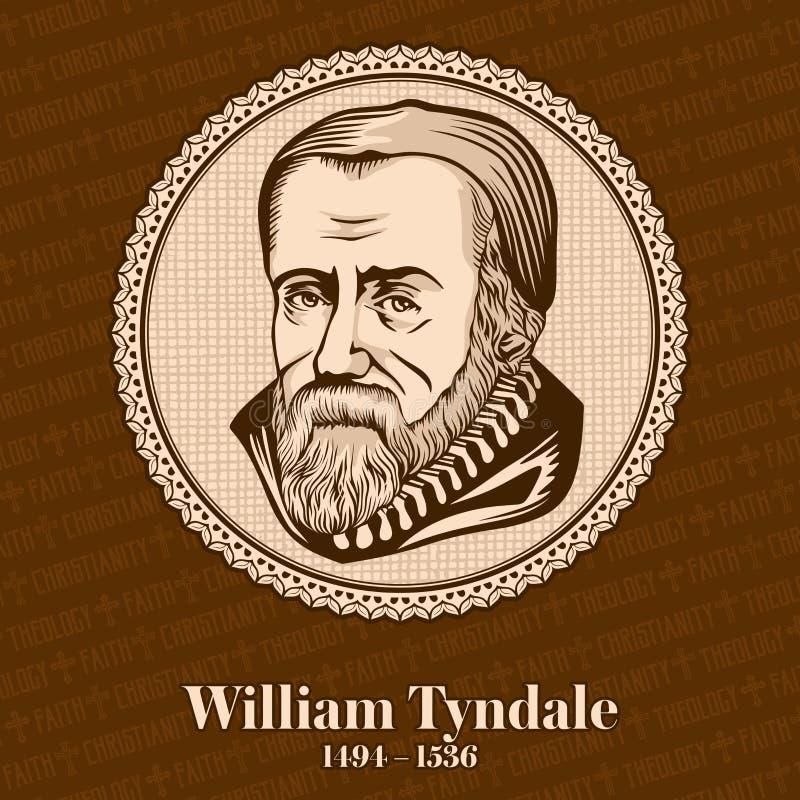 威廉・廷代尔1494-1536是成为在新教徒改革的前导数字的英国学者 库存例证