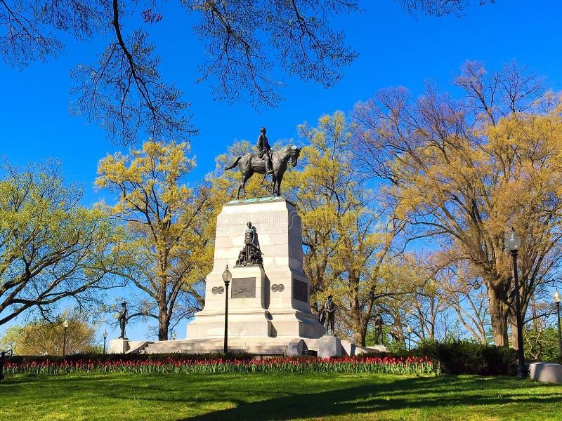 威廉・特库姆塞・舍曼纪念碑,华盛顿特区 库存图片