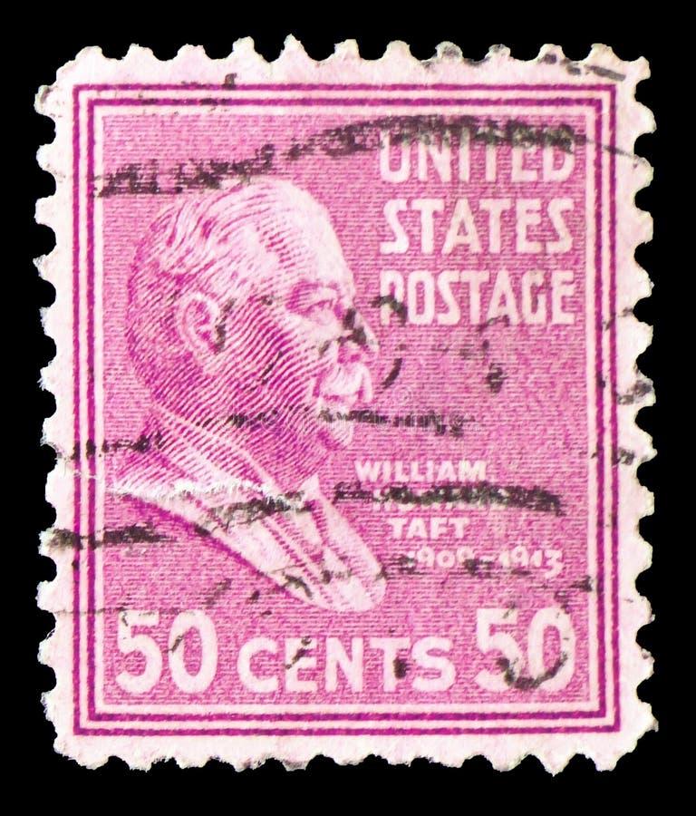 威廉・霍华德・塔夫脱1857-1930,美国的第27位总统,serie,大约1938年 库存照片