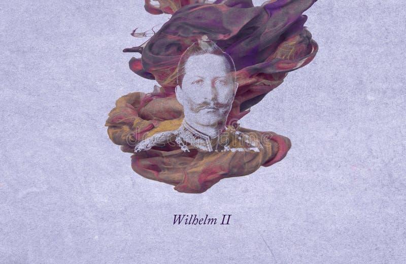 威廉二世,前德意志皇帝 向量例证