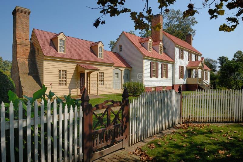 威廉斯堡有历史的家 免版税库存图片