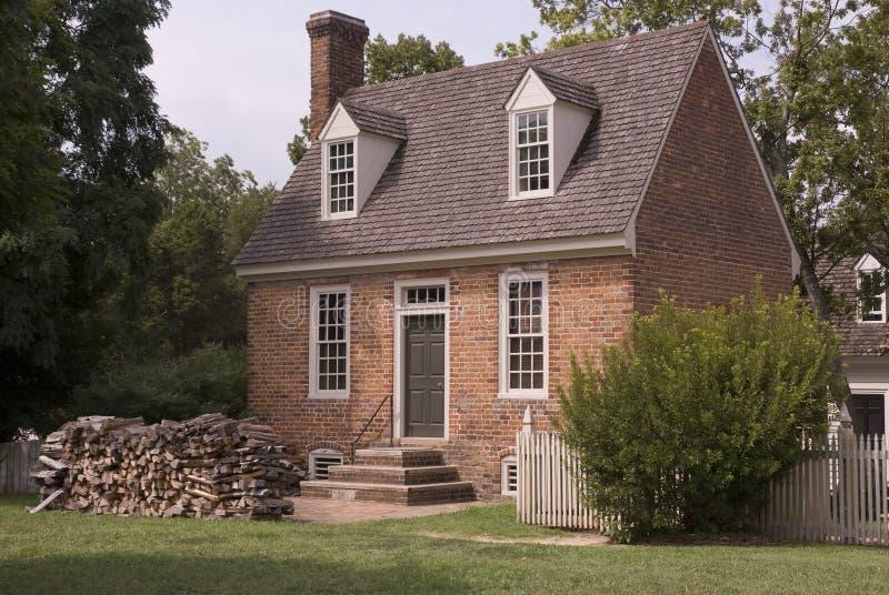 威廉斯堡殖民地居民房子 免版税库存图片