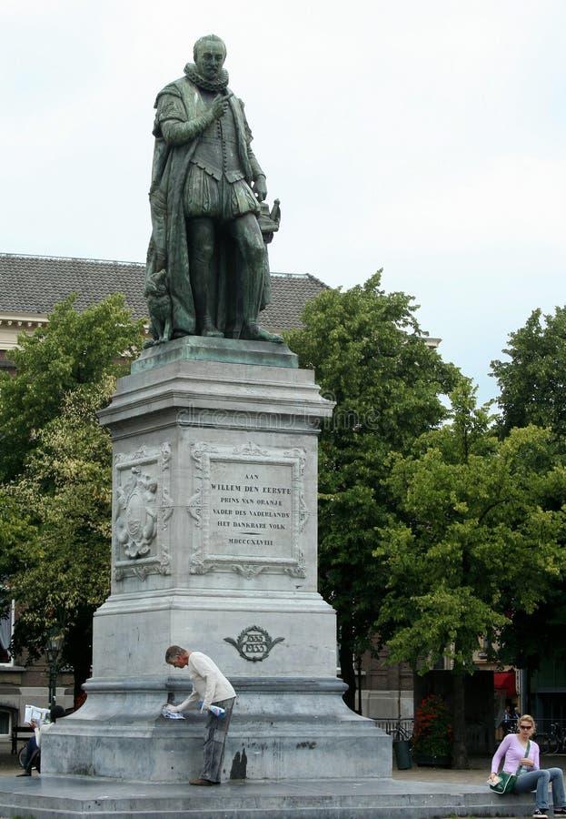 威廉第一个雕象,桔子的王子 免版税库存图片