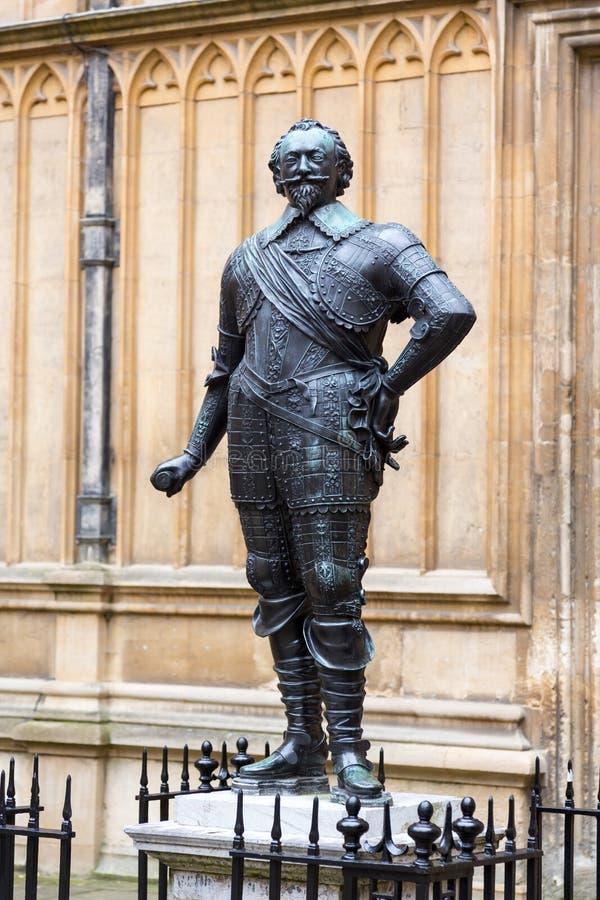 威廉赫伯特伯爵Pembroke雕象  免版税库存图片