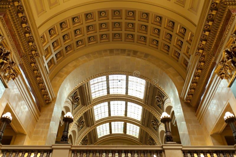 威斯康辛状态国会大厦西部画廊  免版税库存照片