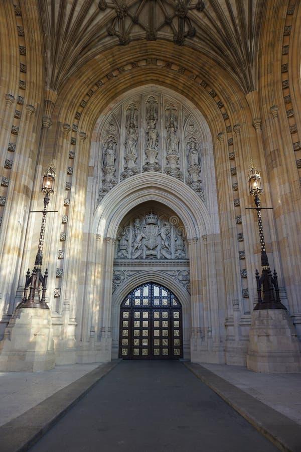 威斯敏斯特宫入口 免版税库存图片