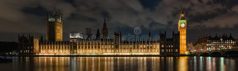 威斯敏斯特宫殿在伦敦在晚上 免版税库存图片
