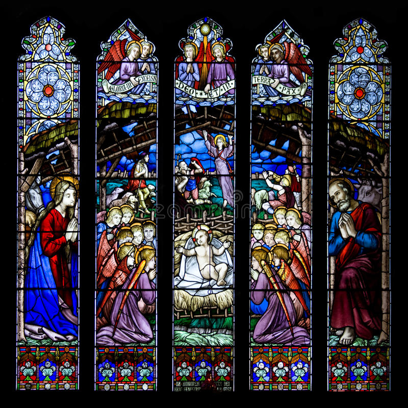 威斯敏斯特窗口-彻斯特大教堂-英国 免版税库存照片