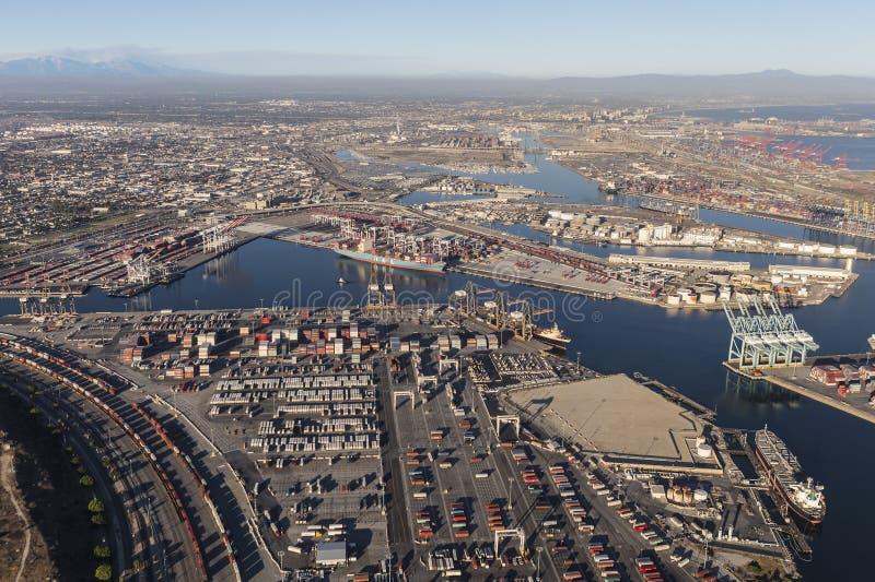 威明顿和洛杉矶港  免版税库存照片
