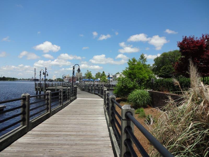威明顿,北卡罗来纳木板走道 免版税库存图片