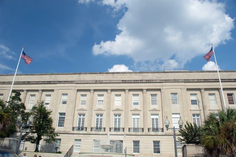 威明顿, NC美国8月 17,2014 Alton列侬联邦大厦 免版税库存图片