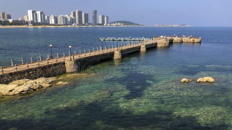 威海市海岸线  免版税库存图片
