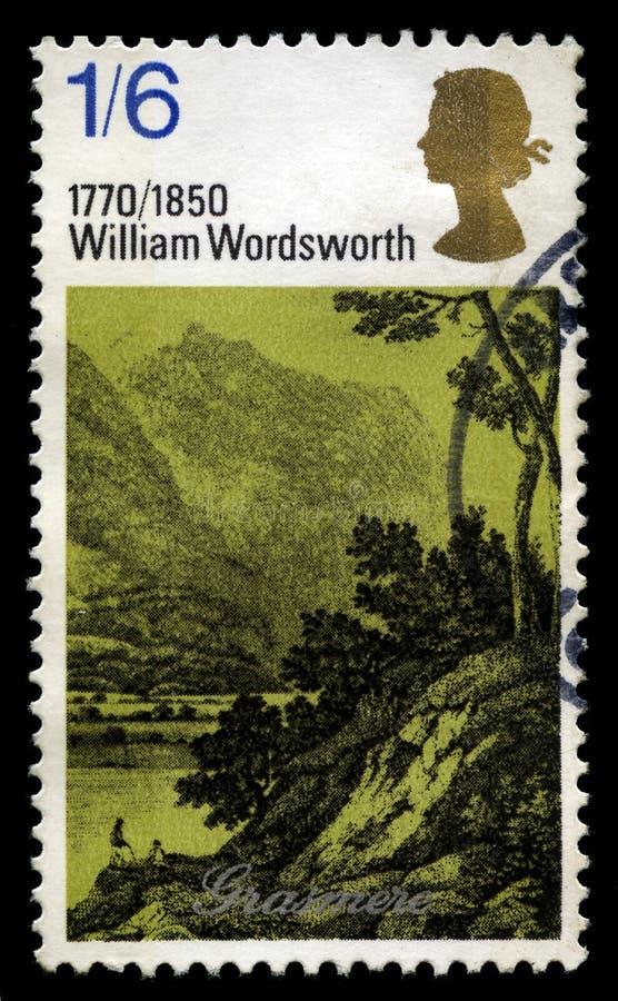 威廉・华兹华斯英国邮票 库存照片