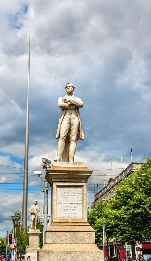 威廉在奥康内尔街上的史密斯欧布里恩雕象  库存图片