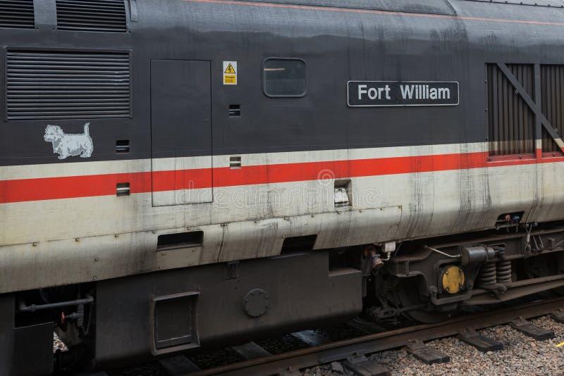 从威廉堡的火车 免版税库存照片