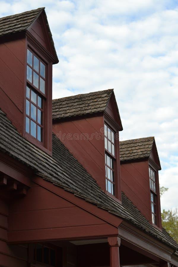 威廉斯堡Roofline 库存照片