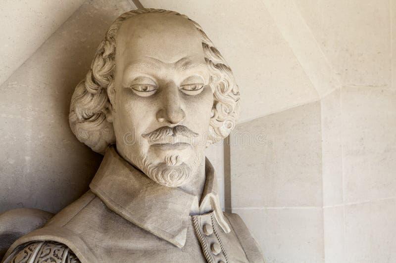 威廉・莎士比亚雕塑在伦敦 库存图片