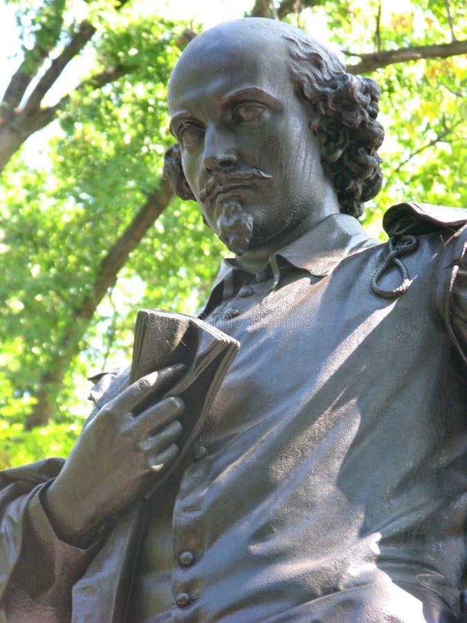 威廉・莎士比亚雕象 库存照片