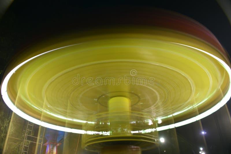娱乐公平的乘驾长的曝光夜摄影 库存照片