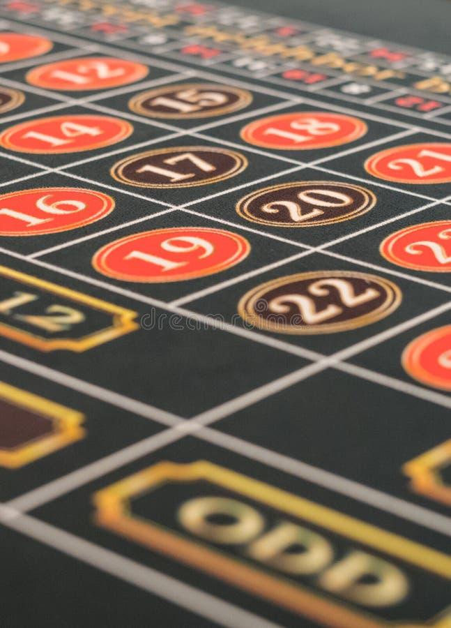 娱乐场实际轮盘赌会议射击表 免版税图库摄影