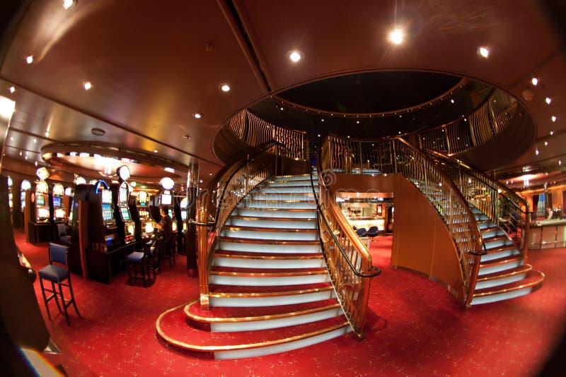娱乐场楼梯 库存图片