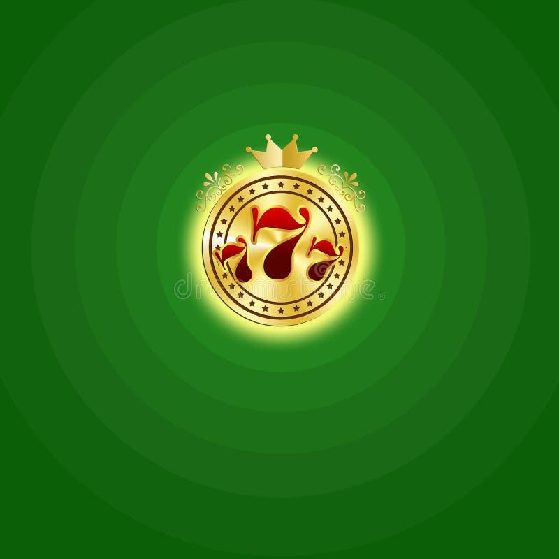 娱乐场符号 皇族释放例证