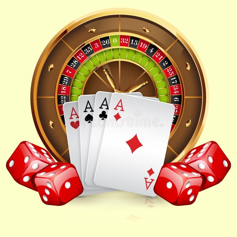 娱乐场轮盘赌的赌轮的例证 皇族释放例证