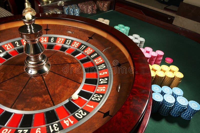 娱乐场轮盘赌 库存照片