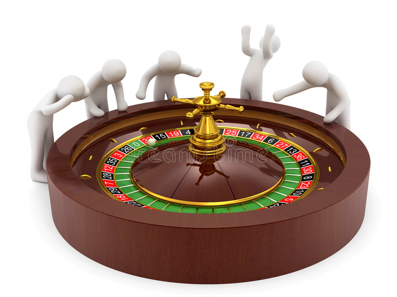 娱乐场轮盘赌 向量例证