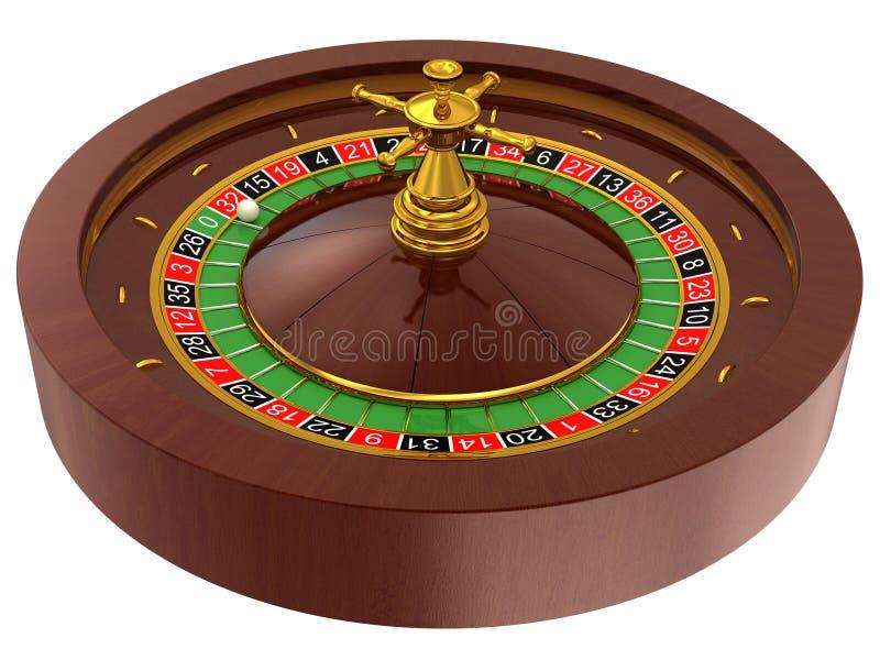 娱乐场轮盘赌 皇族释放例证