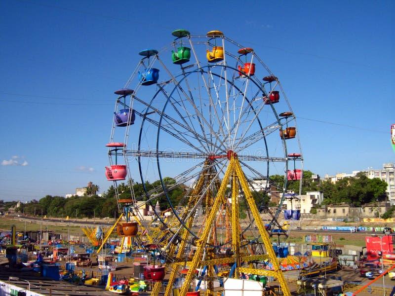 娱乐巨型公园轮子 库存图片