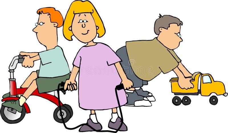 Download 娱乐时间 库存例证. 插画 包括有 三轮车, trike, 娱乐时间, 男朋友, 玩具, 上涨, 卡车, 女孩 - 56566