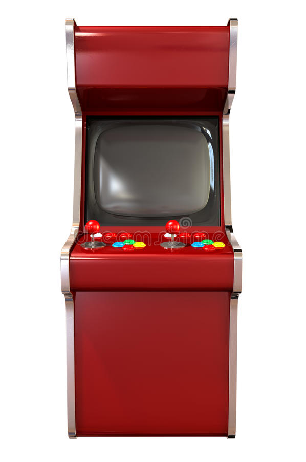娱乐游戏机器 库存例证