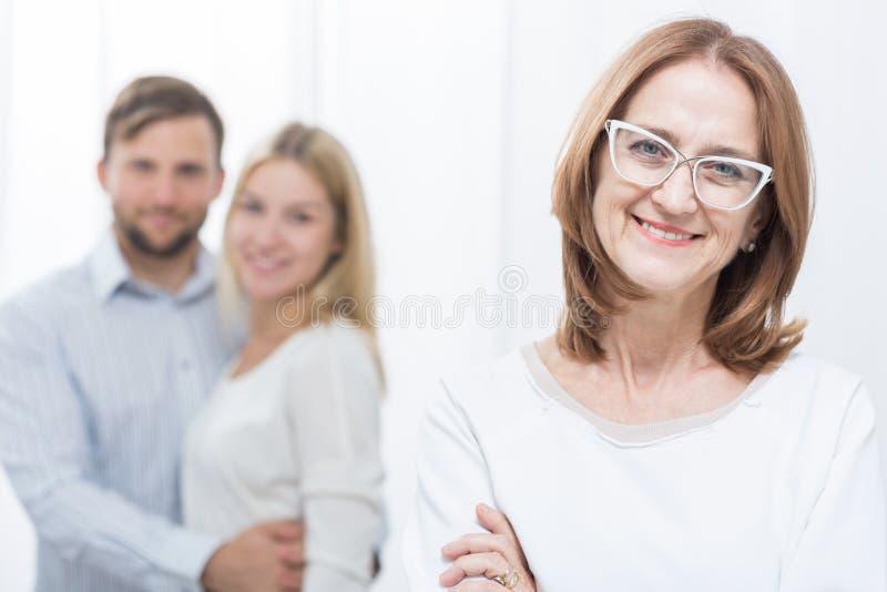 婆婆和家庭 免版税库存照片