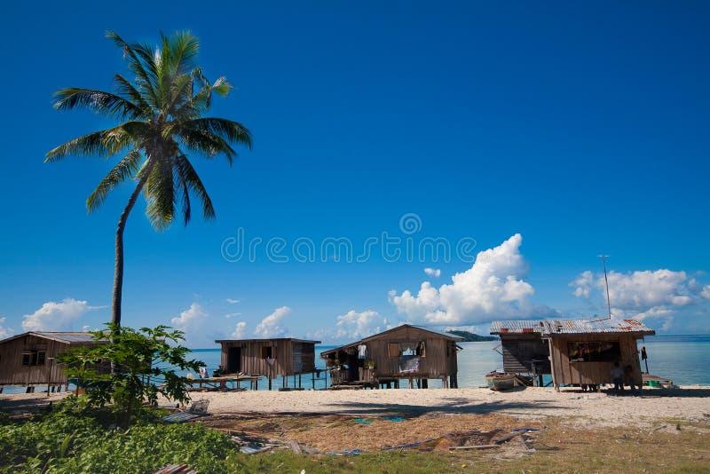 婆罗洲海岸东部homeson谦逊的沙巴 库存照片
