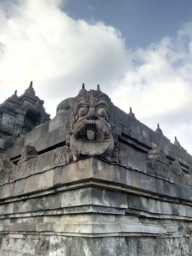 婆罗浮屠寺庙在马格朗,中爪哇省,印度尼西亚 免版税库存照片