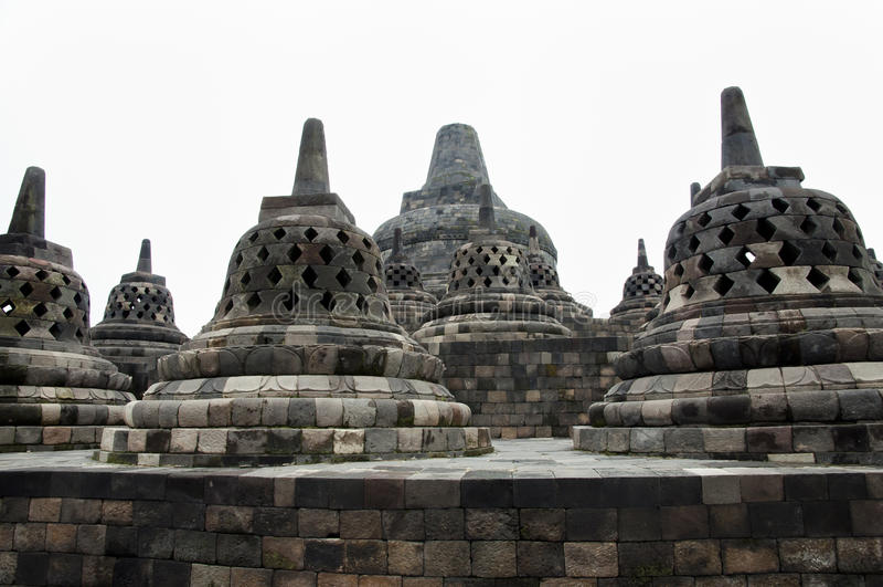 婆罗浮屠寺庙-日惹-印度尼西亚 库存照片