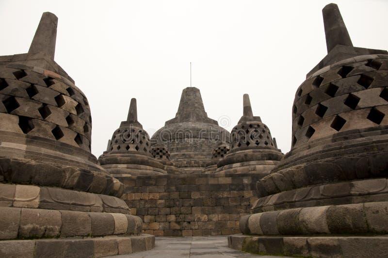 婆罗浮屠寺庙-日惹-印度尼西亚 免版税库存照片
