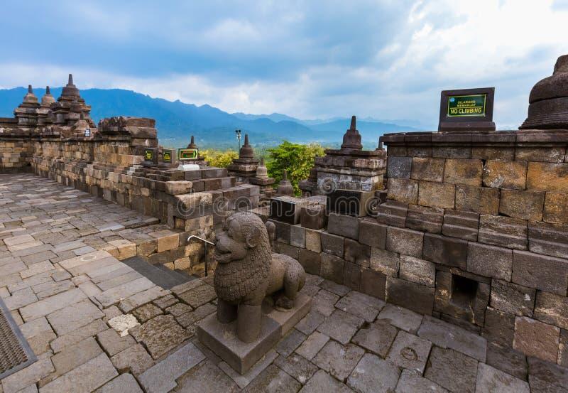 婆罗浮屠Buddist寺庙-海岛Java印度尼西亚 免版税库存图片