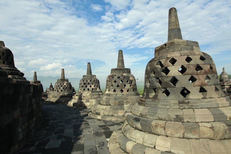 婆罗浮屠Stupa早晨 免版税库存照片