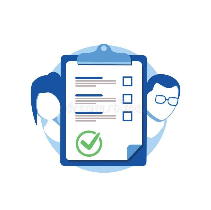 婚前约定文件,夫妇离婚,清单剪贴板,社会学概念,查询表形式,传染媒介 库存例证