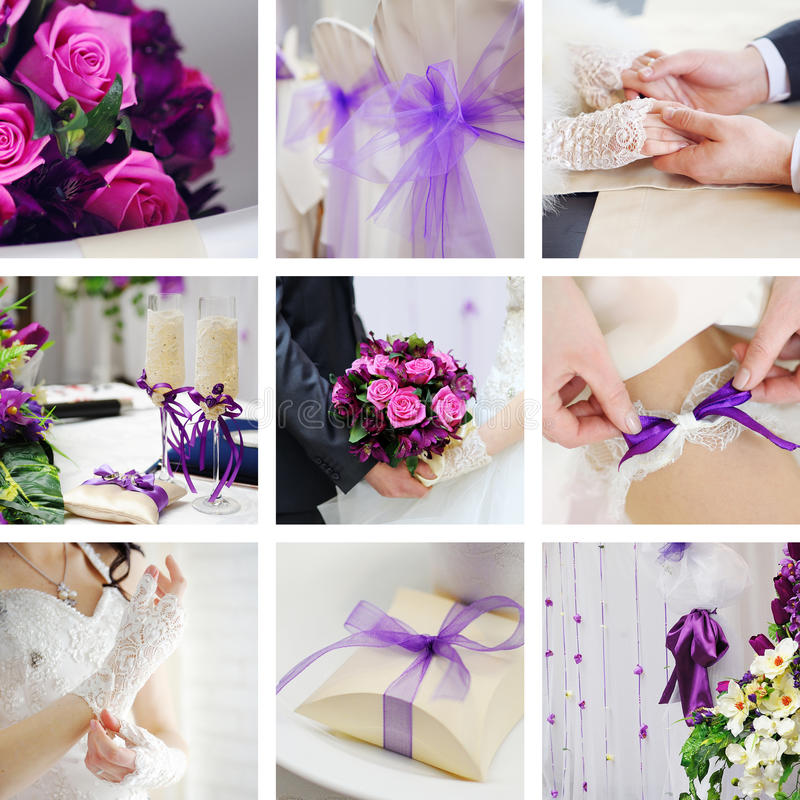 婚姻拼贴画的照片 免版税图库摄影