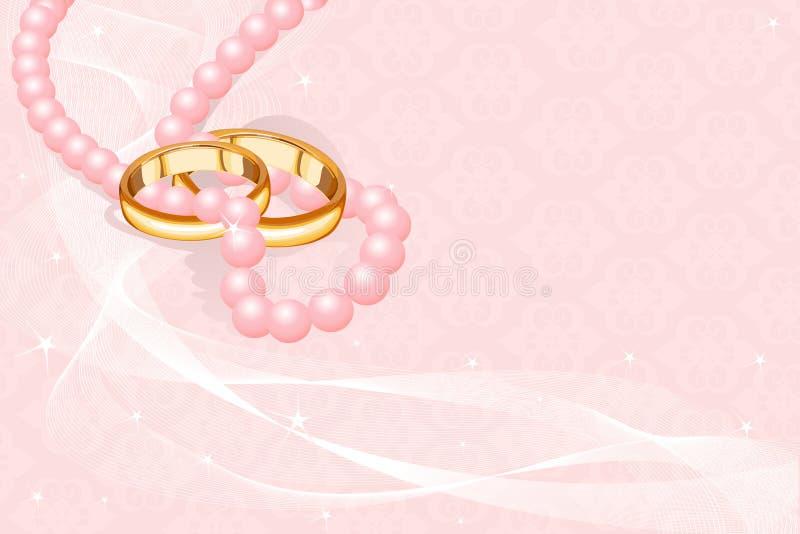 婚姻桃红色的环形 向量例证